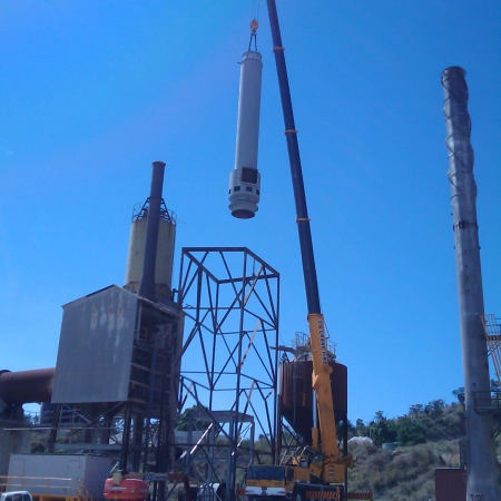 Marmor Dust Collector Installation Crane